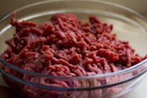 Rinderhackfleisch für Hundefutter